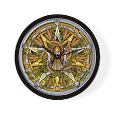 Lammas/Lughnasadh Pentacle Wall Clock