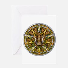 Lammas/Lughnasadh Pentacle Greeting Card