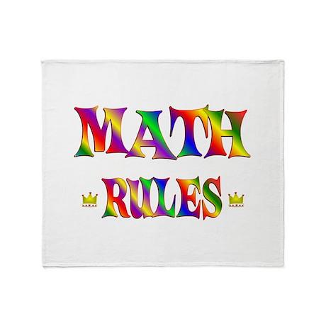 Math Rules Throw Blanket