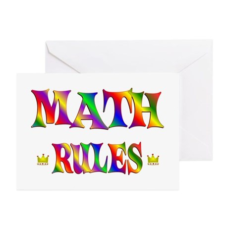 Math Rules Greeting Cards (Pk of 20)