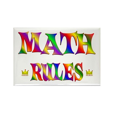 Math Rules Rectangle Magnet (100 pack)