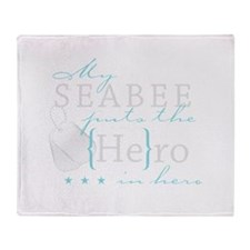 My Seabee puts the He in Hero Throw Blanket