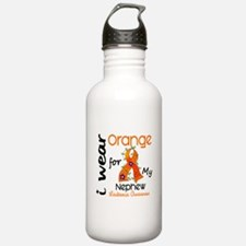 I Wear Orange 43 Leukemia Water Bottle