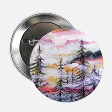 "Misty mountains, art, 2.25"" Button"