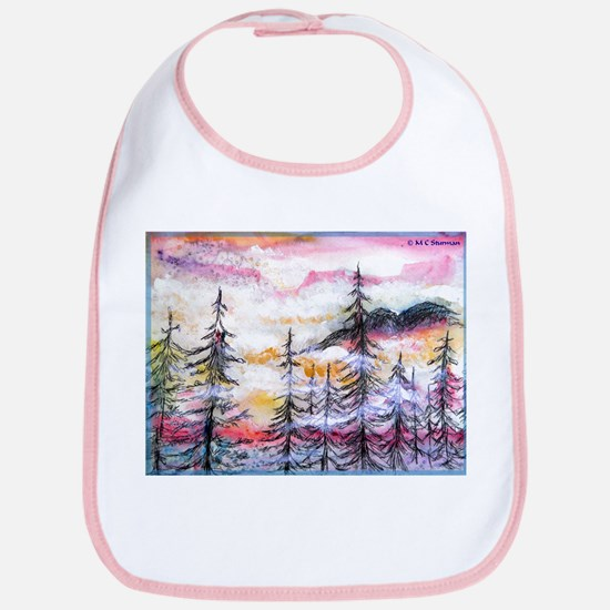 Misty mountains, art, Bib