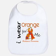 I Wear Orange 43 Leukemia Bib