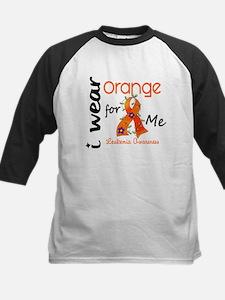 I Wear Orange 43 Leukemia Kids Baseball Jersey