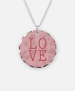 LOVE Circle Charm Necklace