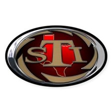 STI Oval Sticker 1