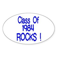 1984 Blue Oval Decal