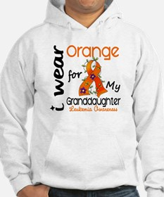 I Wear Orange 43 Leukemia Hoodie