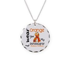 I Wear Orange 43 Leukemia Necklace