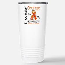 I Wear Orange 43 Leukemia Stainless Steel Travel M