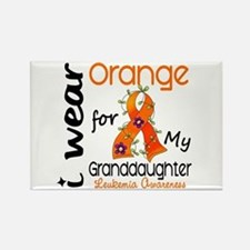 I Wear Orange 43 Leukemia Rectangle Magnet