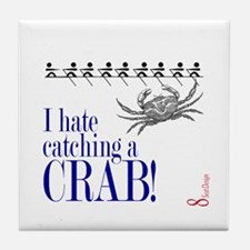 Catching a Crab 2 Tile Coaster