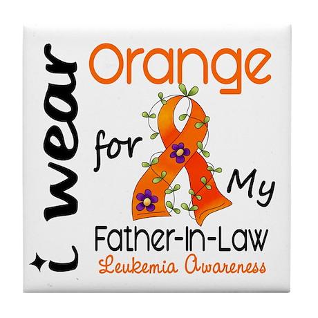 I Wear Orange 43 Leukemia Tile Coaster