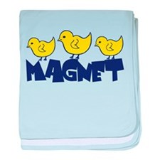 Chick Magnet baby blanket