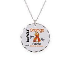 I Wear Orange 43 Leukemia Necklace