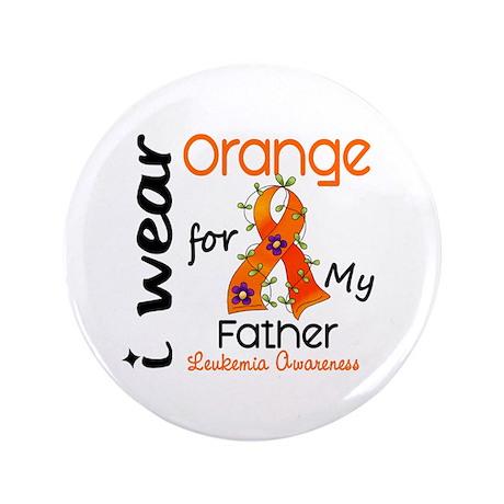 "I Wear Orange 43 Leukemia 3.5"" Button (100 pack)"