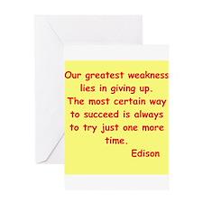 Thomas Edison quotes Greeting Card