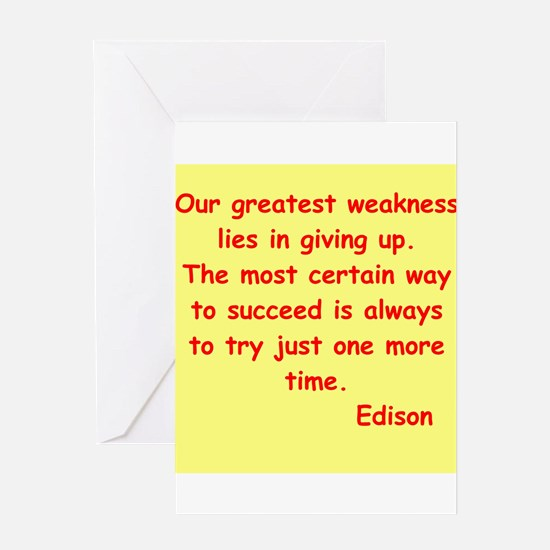 Thomas Edison quotes Greeting Card