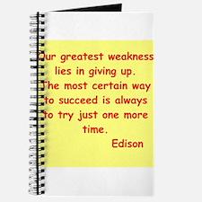 Thomas Edison quotes Journal