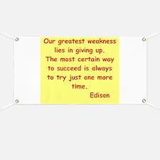 Thomas Edison quotes Banner