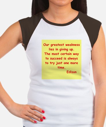 Thomas Edison quotes Women's Cap Sleeve T-Shirt