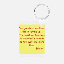 Thomas Edison quotes Keychains