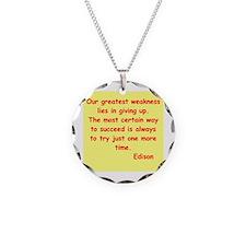 Thomas Edison quotes Necklace