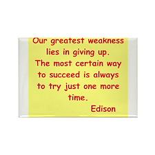Thomas Edison quotes Rectangle Magnet