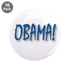 "Obama (zepher) 3.5"" Button (10 pack)"