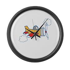Big Airplane Large Wall Clock