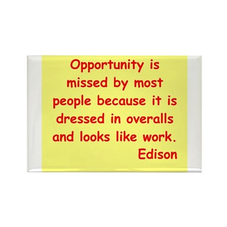 Thomas Edison quotes Rectangle Magnet (10 pack)