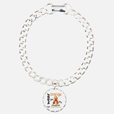 I Wear Orange 43 Leukemia Bracelet