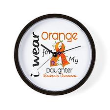 I Wear Orange 43 Leukemia Wall Clock