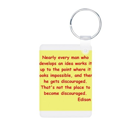 Thomas Edison quotes Aluminum Photo Keychain