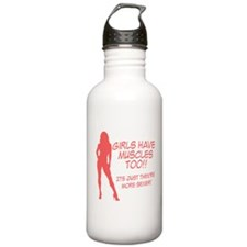 Girls have muscles too V1 Water Bottle