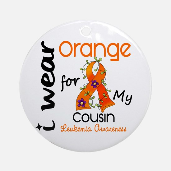 I Wear Orange 43 Leukemia Ornament (Round)