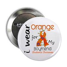 """I Wear Orange 43 Leukemia 2.25"""" Button"""