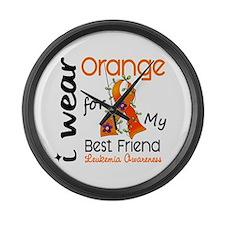I Wear Orange 43 Leukemia Large Wall Clock