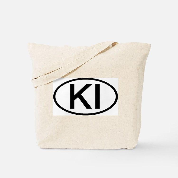 KI - Initial Oval Tote Bag