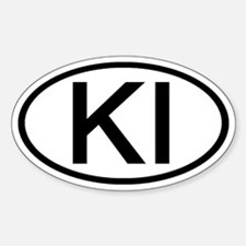 KI - Initial Oval Oval Decal