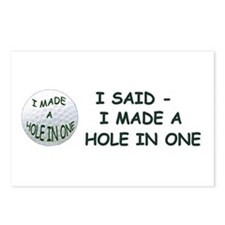 I MADE A HOLE IN ONE Postcards (Package of 8)
