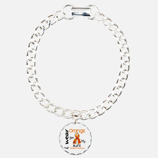I Wear Orange 43 Leukemia Bracelet