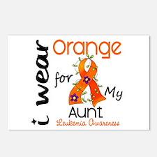 I Wear Orange 43 Leukemia Postcards (Package of 8)