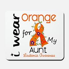 I Wear Orange 43 Leukemia Mousepad