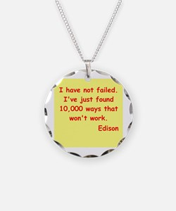 Thomas Edison quotes Necklace