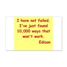 Thomas Edison quotes 22x14 Wall Peel