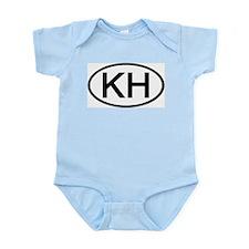 KH - Initial Oval Infant Creeper